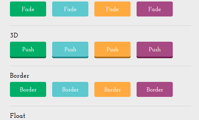 flat css3 buttons collection free