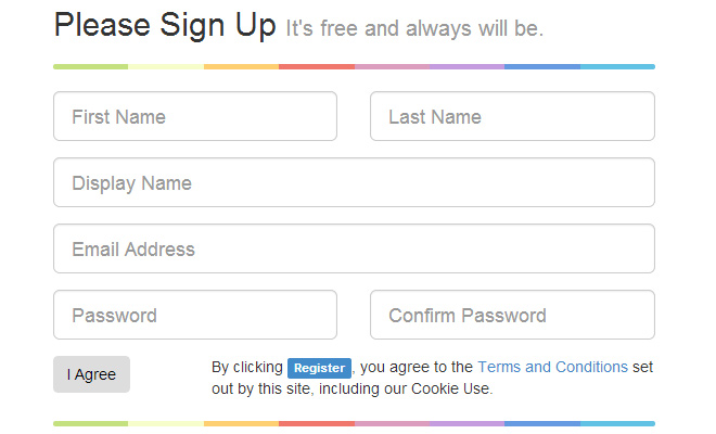 twitter bootstrap css signup form freebie