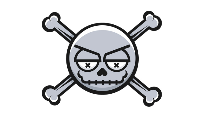 simple skull vector design icon