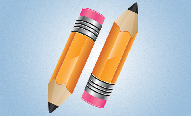 stylish vector icon pencil tool howto