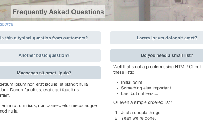 css3 jquery faq toggle tutorial preview screen