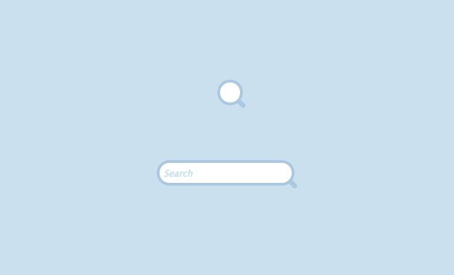 expandable search field pure css design website layout