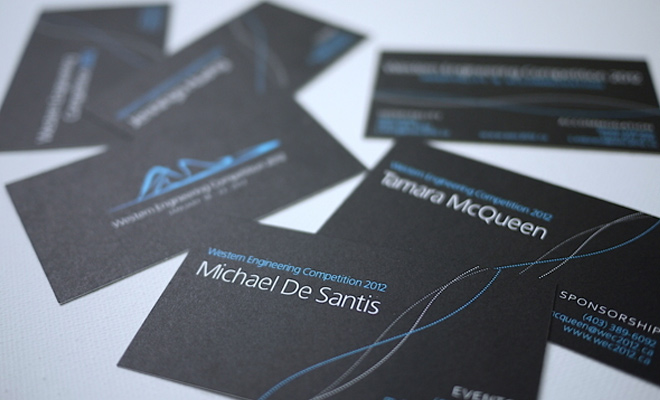 western engineering competition 2012 business card design