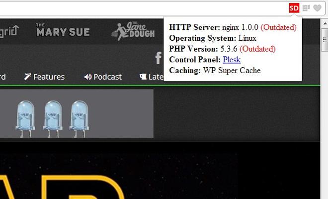 server details website hosting extension opera