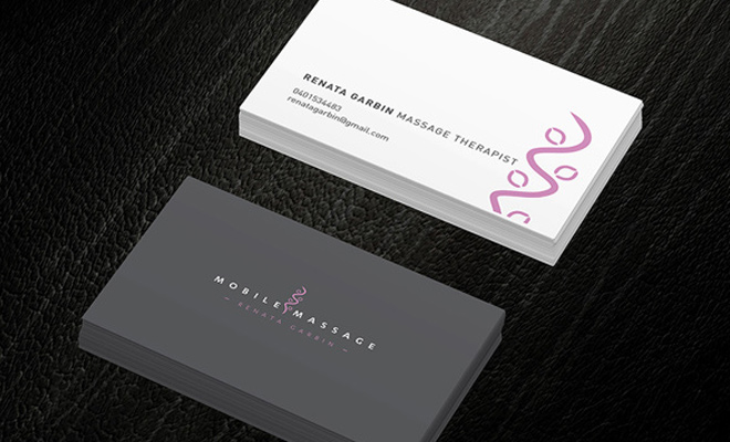 renata garbin business card design inspiration
