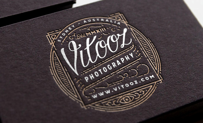 print business card branding vitooz photography