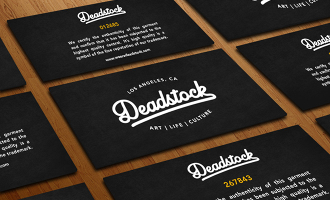 deadstock dark authenticity print business cards