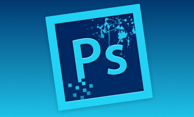 adobe photoshop blue icon app redesign