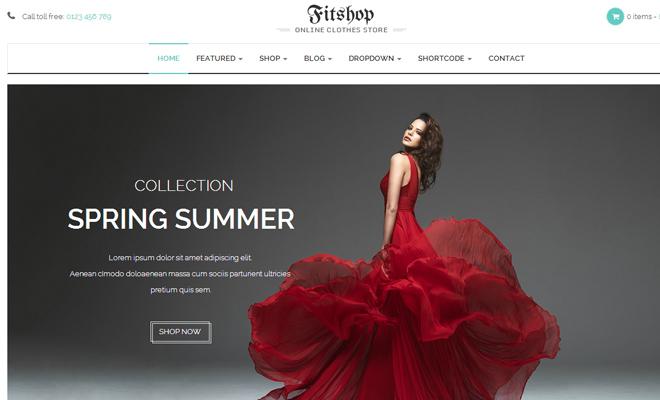 fitshop fashion ecommerce wordpress