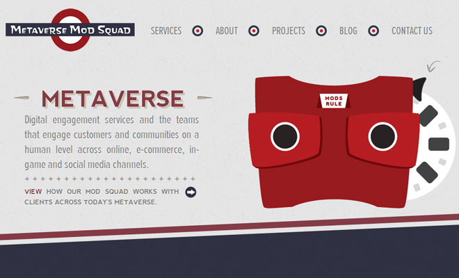 metaverse mod squad website open source layout