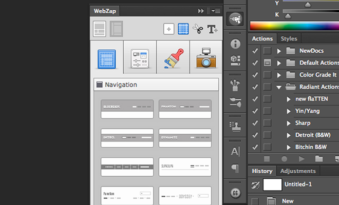 webzap plugin adobe photoshop uiparade mockups