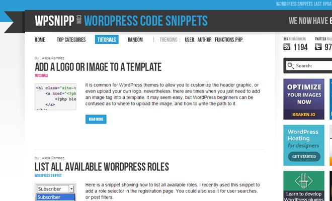 wp snipp wordpress snippets website code freebies