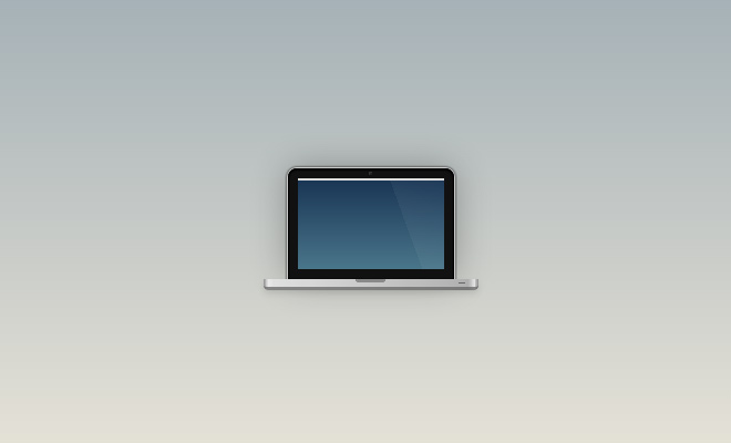 pure css icon macbook computer laptop