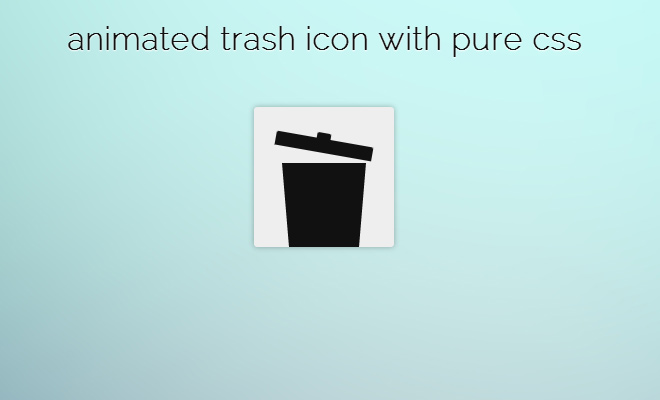 css only animated trash can icon