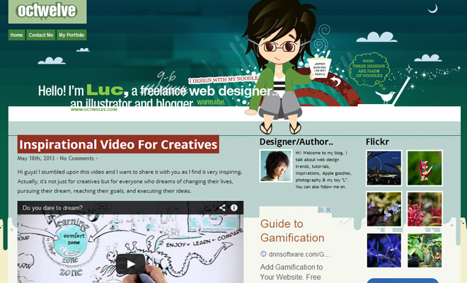 octwelve website vector web design layout inspiration