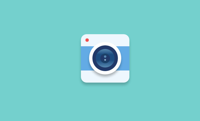 flat camera icon css open source