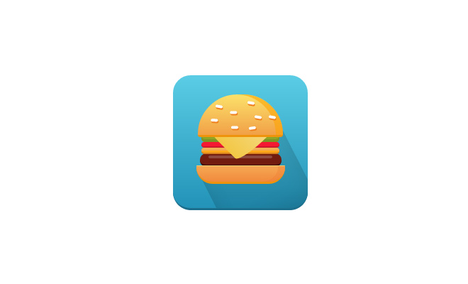 burger app icon flat css open source