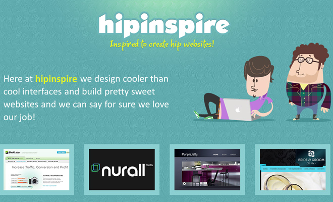hip inspire website gallery design inspiration