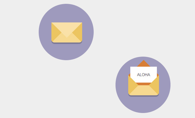 envelope letter css icon transition effect