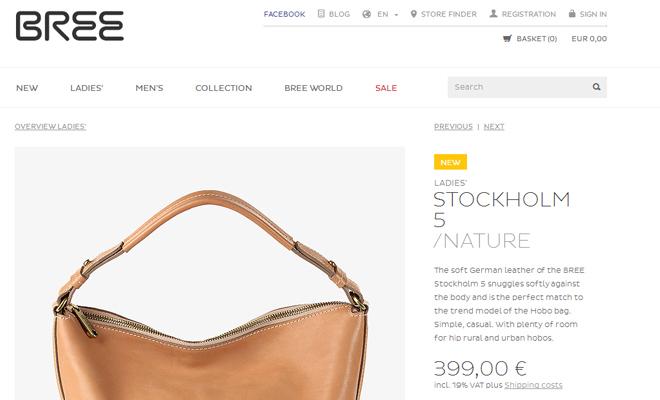 bree ecommerce website simple minimalist typography