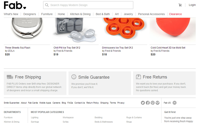 fab ecommerce clean website fixed header