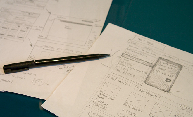featured image website wireframing prototype design