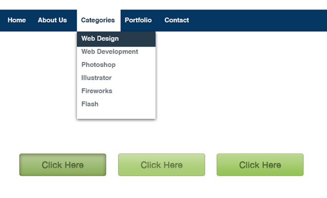 photoshop layer comps button nav menu screenshot