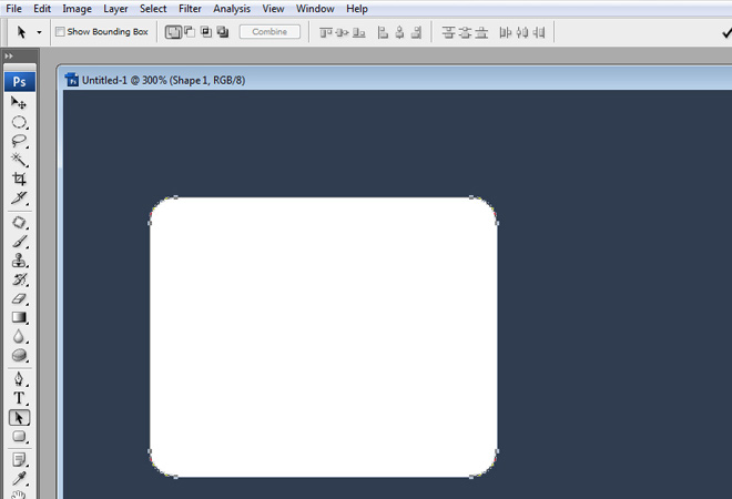 rounded rectangle button shape layer