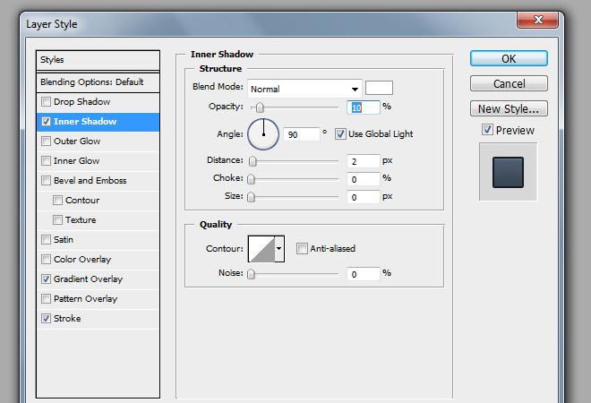 regular button inner shadow layer effect