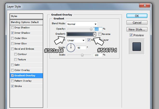 regular button gradient layer effect