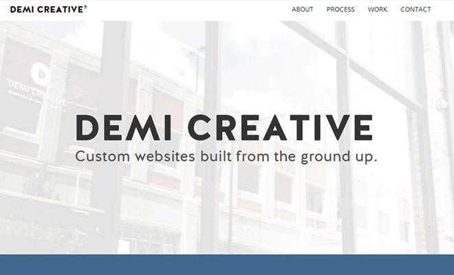 clean website agency design demi creative