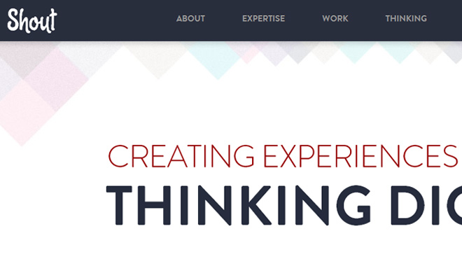 shout digital agency responsive website