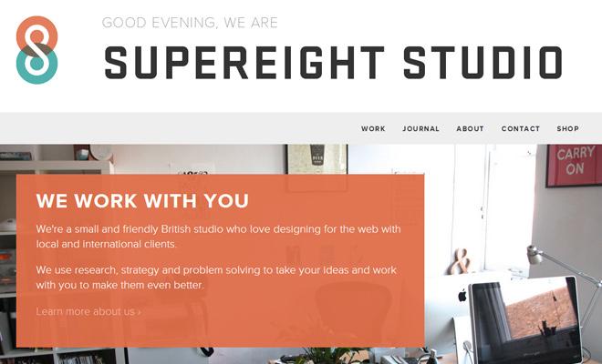 supereight studio creative agency website design