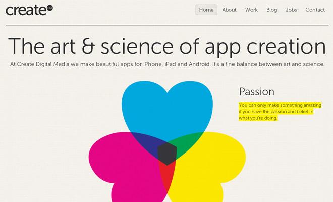 createdm create digital media agency website
