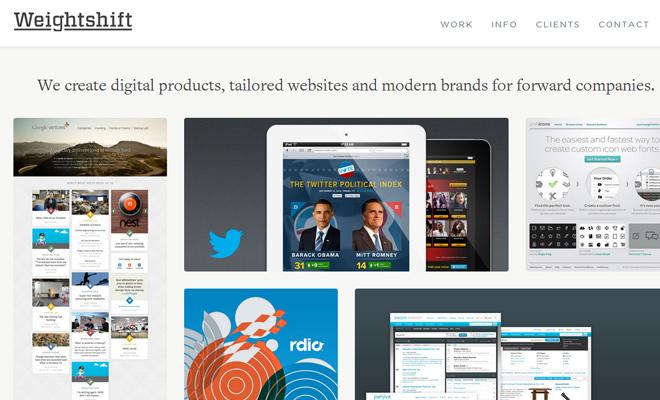 weightshift studio website design responsive
