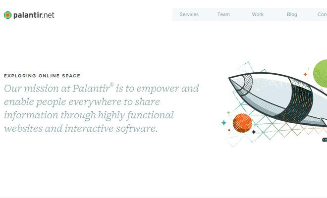 palantir website clean white responsive