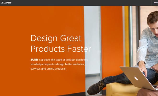 zurb design creative agency website layout