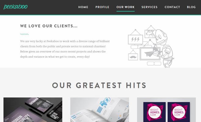 peekaboo design agency website responsive