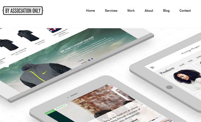 by association only design website layout responsive
