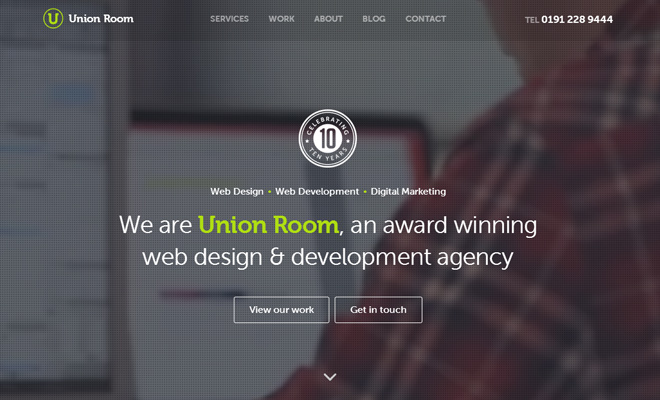 union room design agency newcastle website layout