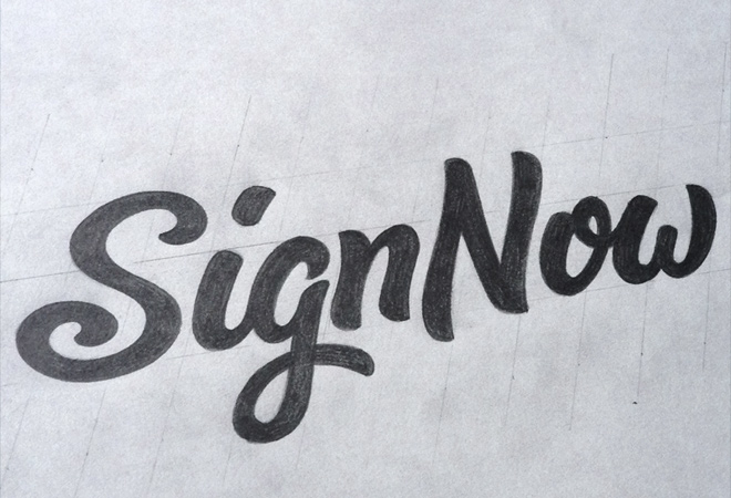 signnow final sketch design logo text