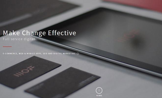 matter of form design creative agency website