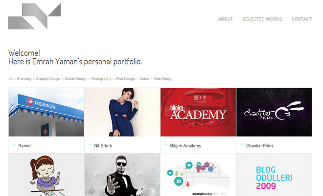 emrah yaman personal portfolio responsive