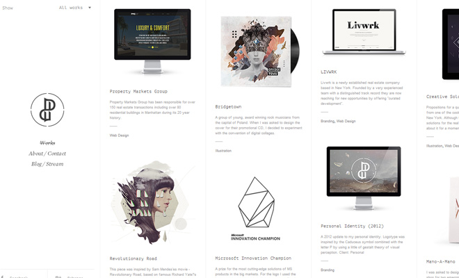 parabolic playground website white layout design
