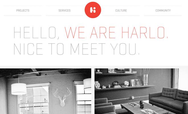 harlo creative white clean portfolio web design
