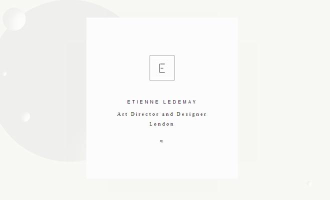 etienne ledemay art director portfolio website