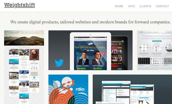 weightshift design and development portfolio agency