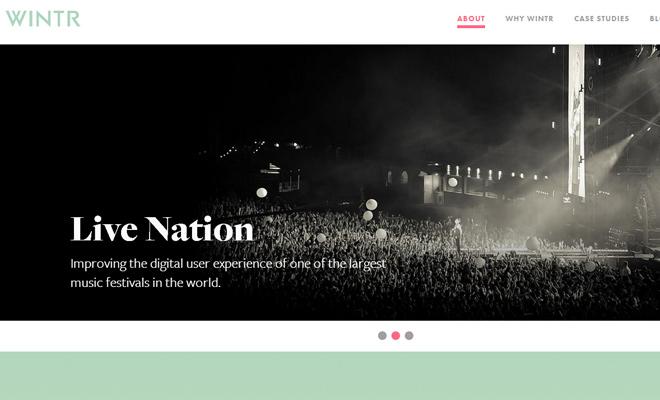 wintr digital creative agency responsive layout