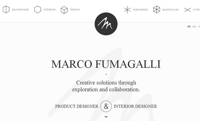 marco fumagalli design portfolio website layout