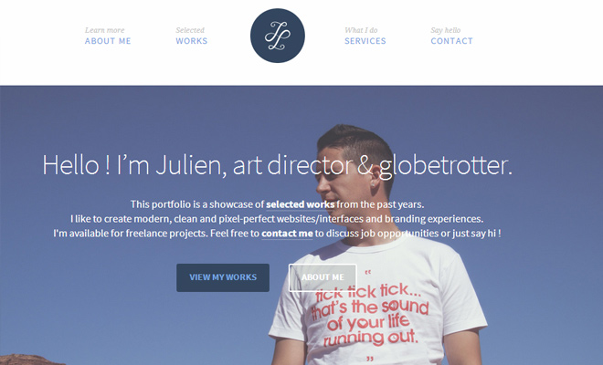 julien lavallee website art director portfolio